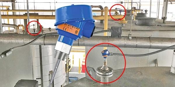 導波式液位安裝實例
