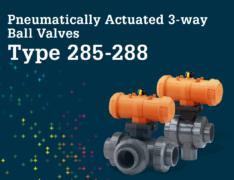 3 way ball valves Type 285 288
