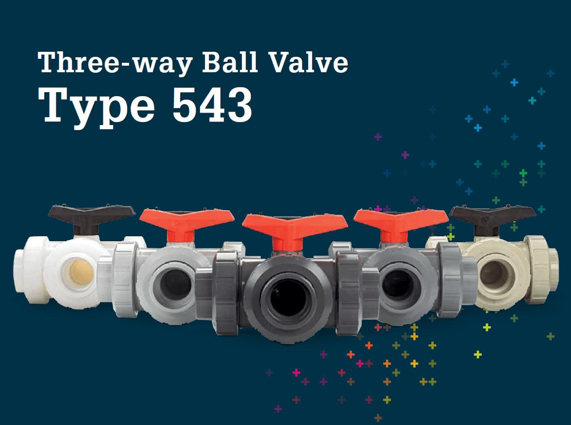 3 way ball valves Type 543