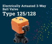 Electric Actuators 3 way ball valve Type 125 128