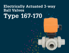 Electric Actuators 3 way ball valve Type 167 170