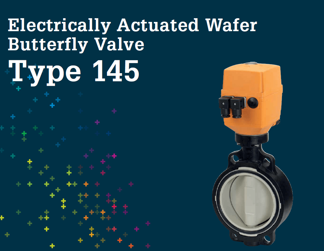 Electrically Actuated Wafer Butterfly valve Type 145