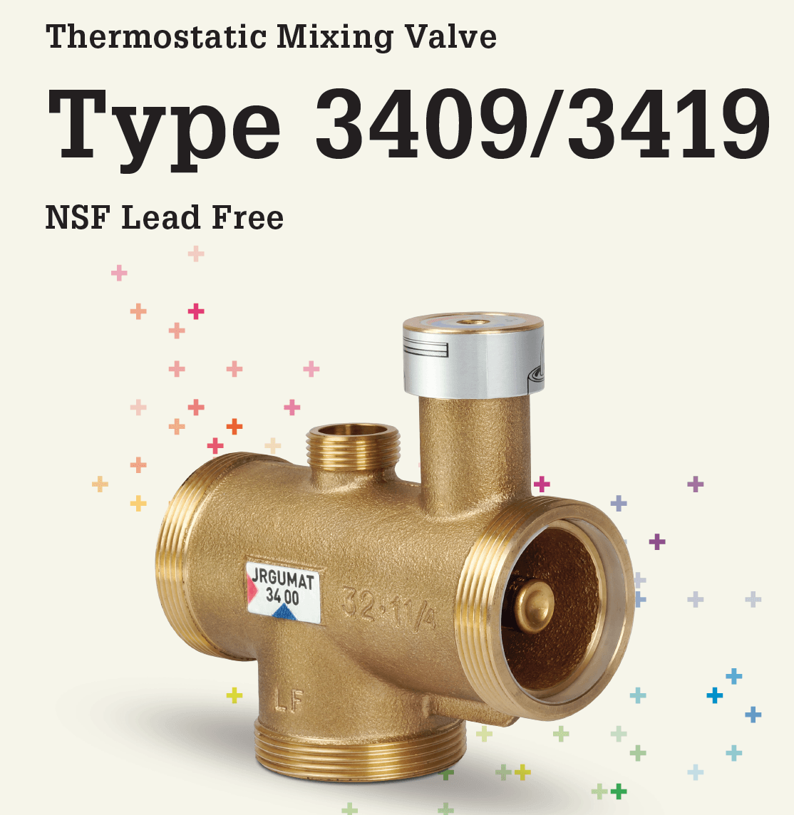 Thermostatic Mixing Valve Type 3409 3419