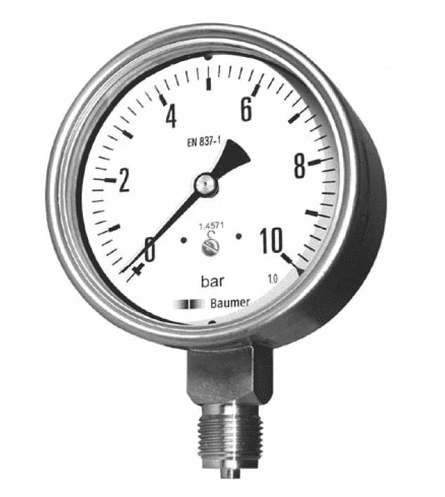 MEX5-MEM5 Industrial Pressure Gauges DN 100