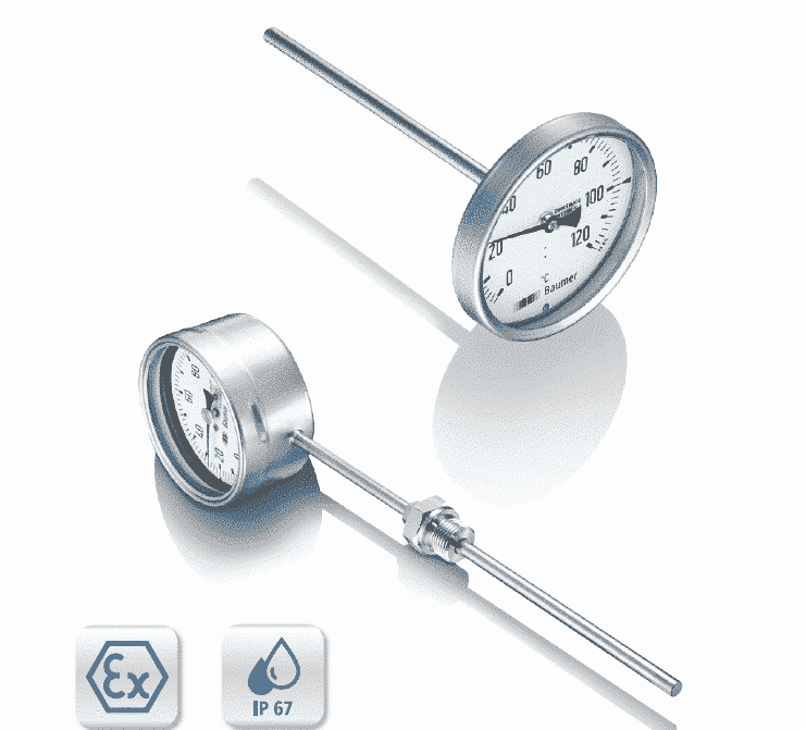 TBI Bimetalthermometer, Stainless Steel