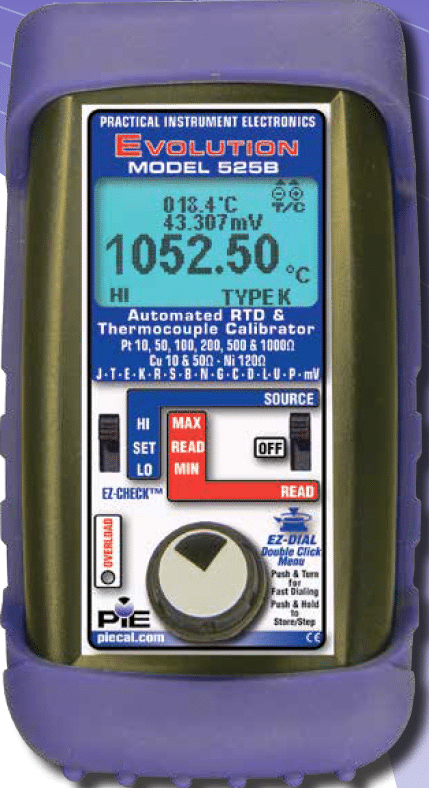 525B 9001 rev D PIE 525B Automated Thermocouple and RTD Calibrator 1