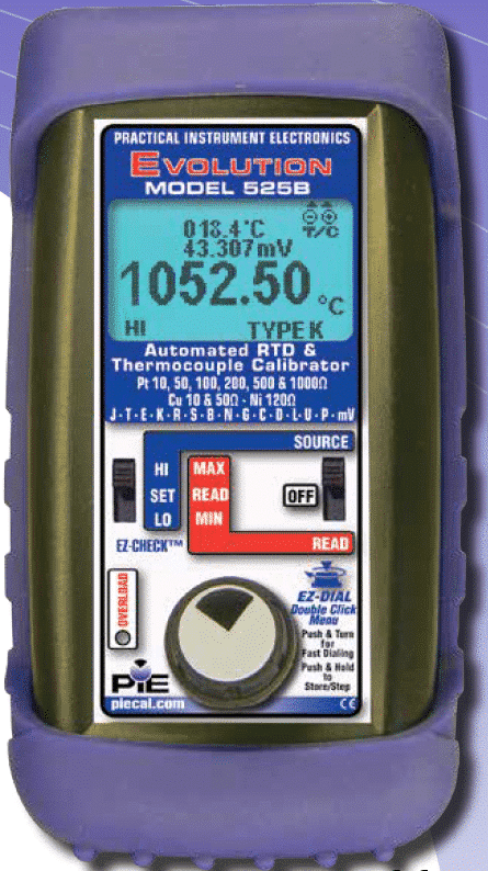 525B 9001 rev D PIE 525B Automated Thermocouple and RTD Calibrator 2