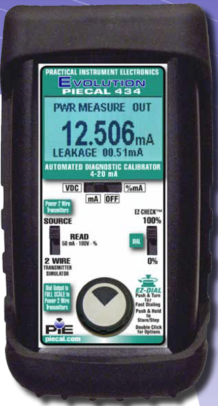 PIECAL 434 Automated Diagnostic 4 20 mA Calibrator